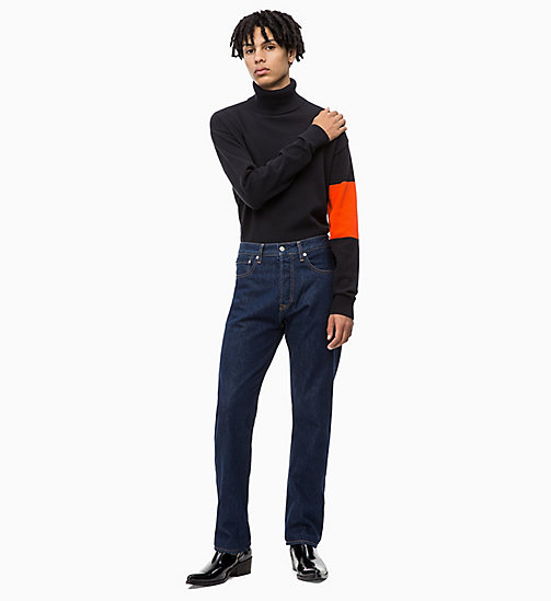 CALVIN KLEIN JEANS Colour Block Turtleneck Jumper - CK BLACK - CALVIN KLEIN JEANS FALL DREAMS - detail image 1