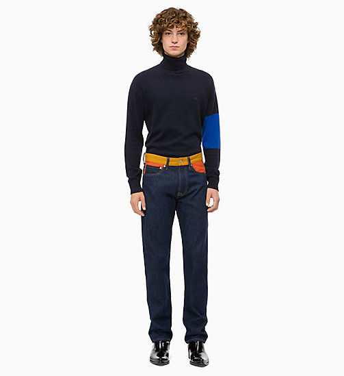 CALVIN KLEIN JEANS Colour Block Turtleneck Jumper - NIGHT SKY - CALVIN KLEIN JEANS CLOTHES - detail image 1