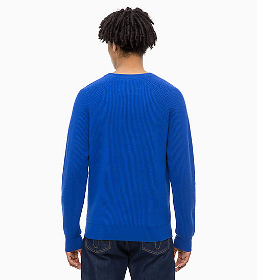 CALVIN KLEIN JEANS Premium Wool Jumper - SURF THE WEB - CALVIN KLEIN JEANS NEW IN - detail image 1