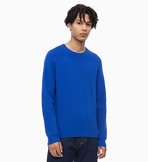 CALVIN KLEIN JEANS Premium Wool Jumper - SURF THE WEB - CALVIN KLEIN JEANS CLOTHES - main image