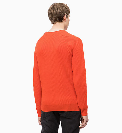 CALVIN KLEIN JEANS Premium Wool Jumper - PUMPKIN RED - CALVIN KLEIN JEANS FALL DREAMS - detail image 1