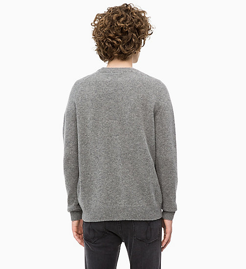 CALVIN KLEIN JEANS Heathered Wool Jumper - GREY HEATHER - CALVIN KLEIN JEANS CLOTHES - detail image 1