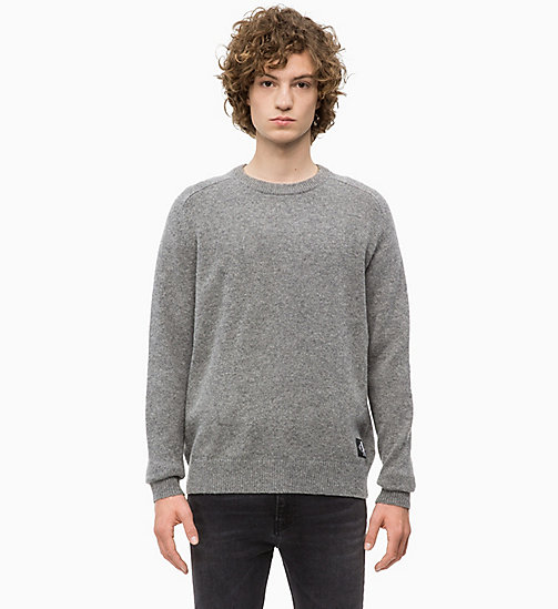 CALVIN KLEIN JEANS Heathered Wool Jumper - GREY HEATHER - CALVIN KLEIN JEANS CLOTHES - main image