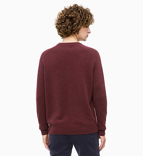 CALVIN KLEIN JEANS Heathered Wool Jumper - TAWNY PORT HEATHER -  CLOTHES - detail image 1