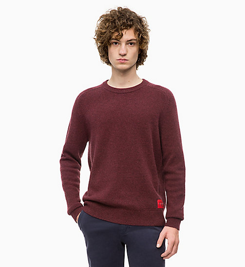 CALVIN KLEIN JEANS Heathered Wool Jumper - TAWNY PORT HEATHER - CALVIN KLEIN JEANS CLOTHES - main image