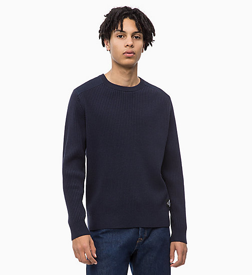 CALVIN KLEIN JEANS Cotton Wool Jumper - NIGHT SKY - CALVIN KLEIN JEANS CLOTHES - main image