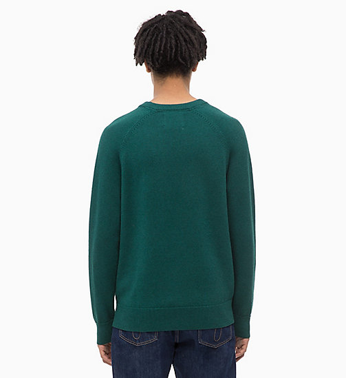 CALVIN KLEIN JEANS Wool Blend Jumper - JUNE BUG - CALVIN KLEIN JEANS NEW IN - detail image 1