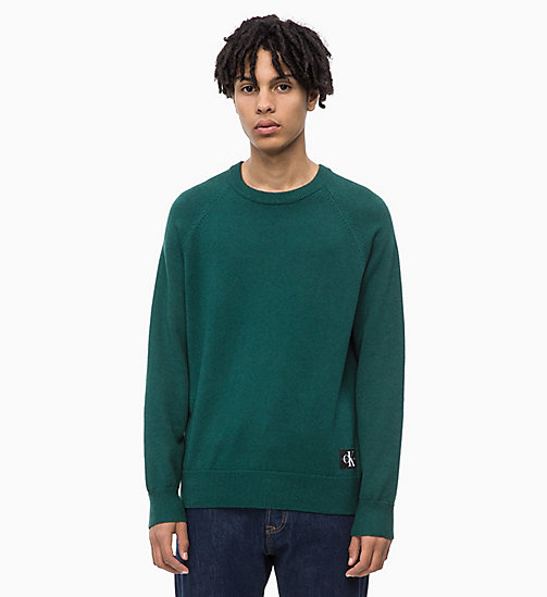 CALVIN KLEIN JEANS Wool Blend Jumper - JUNE BUG - CALVIN KLEIN JEANS NEW IN - main image