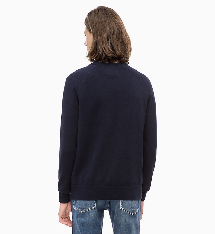CALVIN KLEIN JEANS Wool Blend Jumper - JUNE BUG - CALVIN KLEIN JEANS MEN - detail image 1