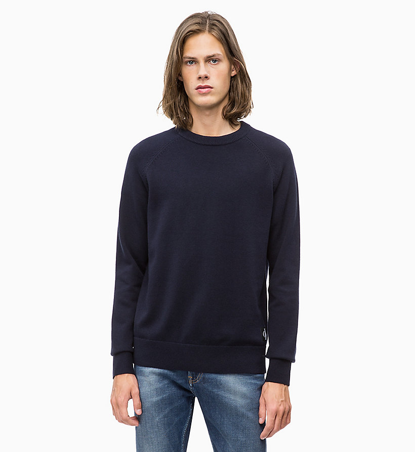 CALVIN KLEIN JEANS Wool Blend Jumper - JUNE BUG - CALVIN KLEIN JEANS MEN - main image