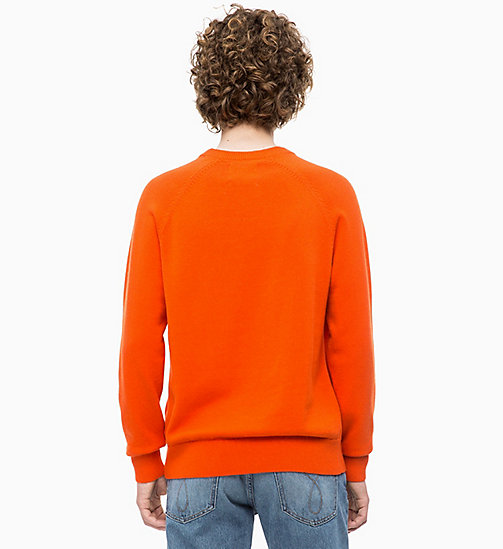 CALVIN KLEIN JEANS Wool Blend Jumper - PUMPKIN RED - CALVIN KLEIN JEANS FALL DREAMS - detail image 1