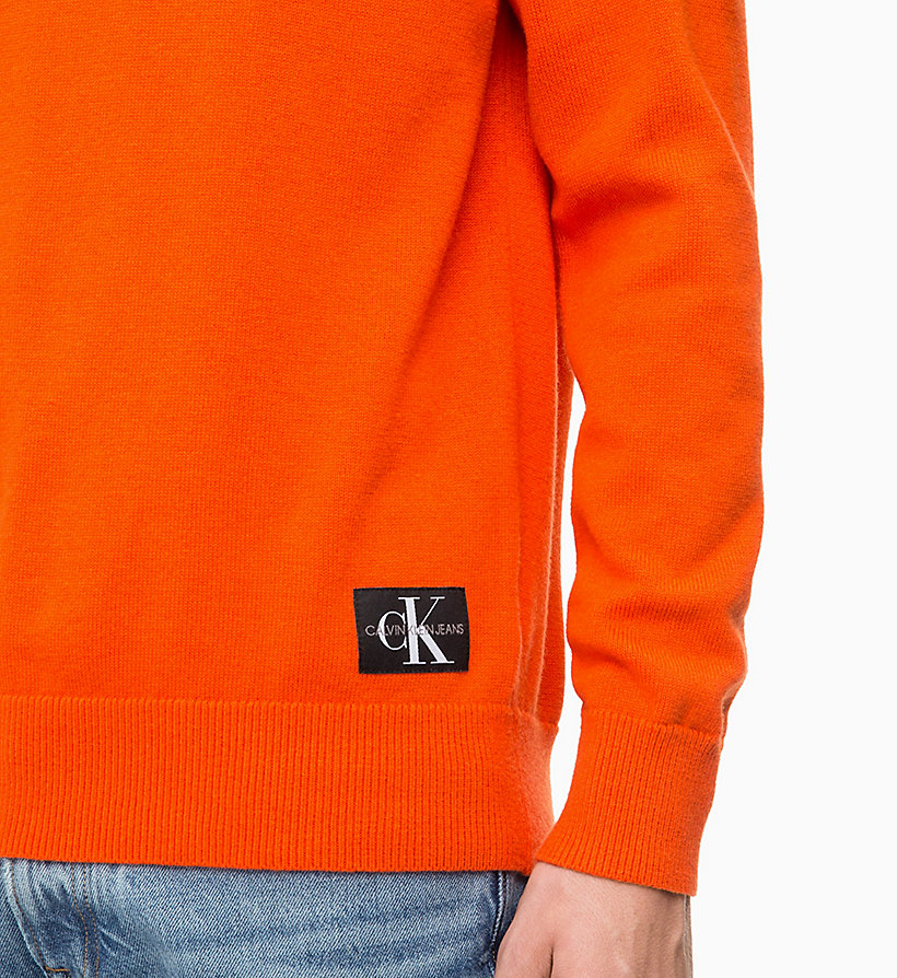 CALVIN KLEIN JEANS Wool Blend Jumper - NIGHT SKY - CALVIN KLEIN JEANS MEN - detail image 2