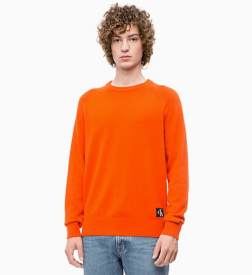 CALVIN KLEIN JEANS Wool Blend Jumper - PUMPKIN RED - CALVIN KLEIN JEANS FALL DREAMS - main image