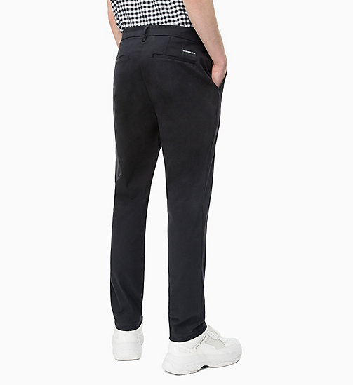 CALVIN KLEIN JEANS Slim Chino Trousers - CK BLACK - CALVIN KLEIN JEANS CLOTHES - detail image 1