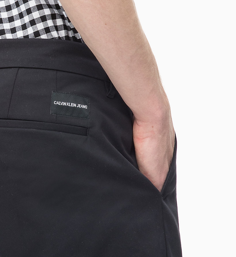 CALVIN KLEIN JEANS Slim Chino Trousers - TAWNY PORT - CALVIN KLEIN JEANS MEN - detail image 2