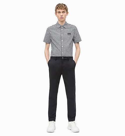 CALVIN KLEIN JEANS Slim Chino Trousers - CK BLACK - CALVIN KLEIN JEANS NEW IN - detail image 1