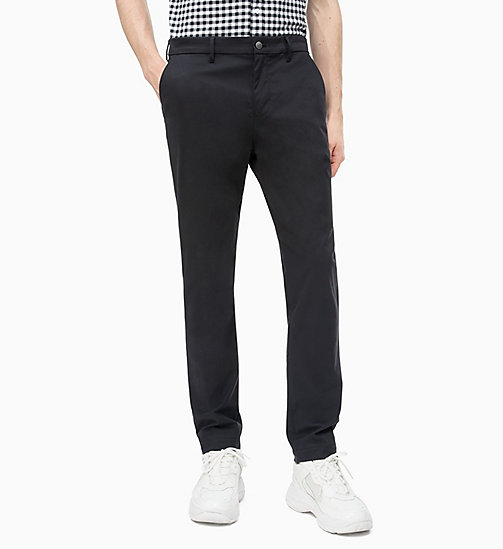 CALVIN KLEIN JEANS Slim Chino Trousers - CK BLACK - CALVIN KLEIN JEANS NEW IN - main image