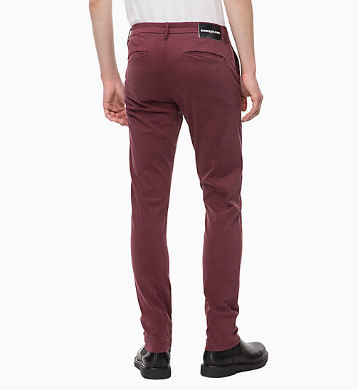 CALVIN KLEIN JEANS Slim Chino Trousers - TAWNY PORT - CALVIN KLEIN JEANS The New Off-Duty - detail image 1