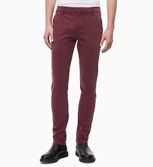 CALVIN KLEIN JEANS Slim Chino Trousers - TAWNY PORT - CALVIN KLEIN JEANS The New Off-Duty - main image