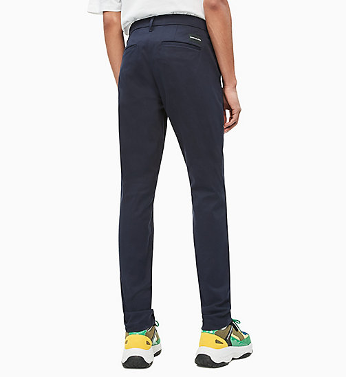 CALVIN KLEIN JEANS Slim Chino Trousers - NIGHT SKY - CALVIN KLEIN JEANS CLOTHES - detail image 1
