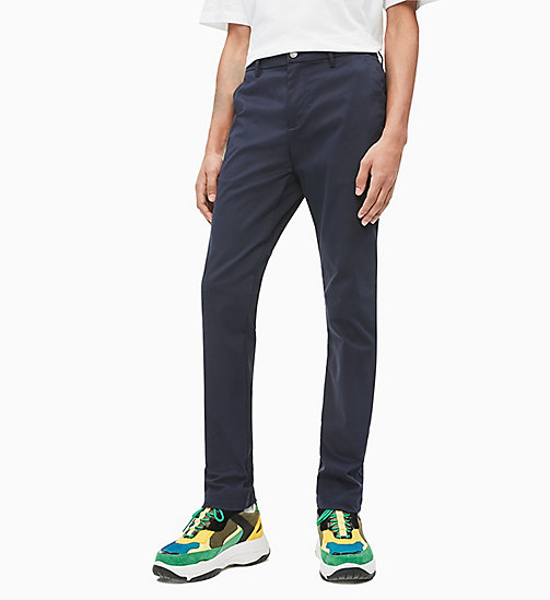 CALVIN KLEIN JEANS Slim Chino Trousers - NIGHT SKY - CALVIN KLEIN JEANS CLOTHES - main image