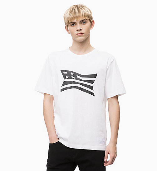 CALVIN KLEIN JEANS Printed T-shirt - BRIGHT WHITE - CALVIN KLEIN JEANS BOLD GRAPHICS - main image