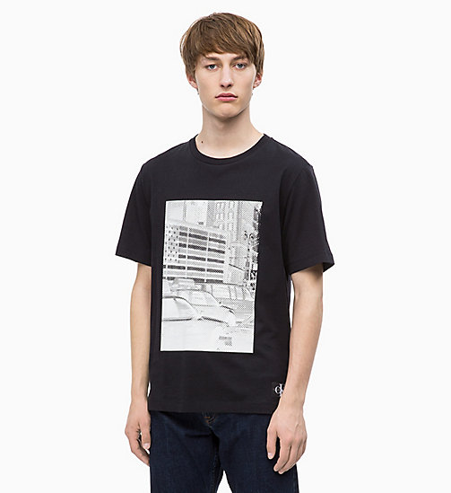 CALVIN KLEIN JEANS Printed T-shirt - CK BLACK / BRIGHT WHITE - CALVIN KLEIN JEANS NEW IN - main image