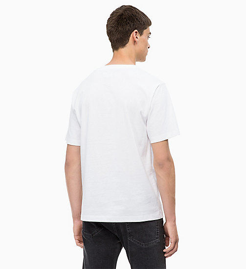 CALVIN KLEIN JEANS T-Shirt mit Print - BRIGHT WHITE/ JUNE BUG - CALVIN KLEIN JEANS NEW IN - main image 1