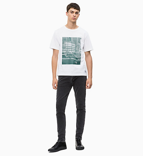 CALVIN KLEIN JEANS Printed T-shirt - BRIGHT WHITE/ JUNE BUG - CALVIN KLEIN JEANS CLOTHES - detail image 1
