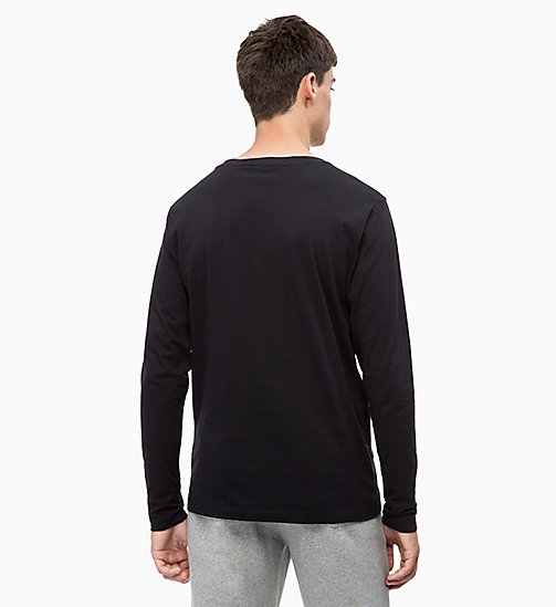 CALVIN KLEIN JEANS Long Sleeve Printed T-shirt - CK BLACK - CALVIN KLEIN JEANS The New Off-Duty - detail image 1