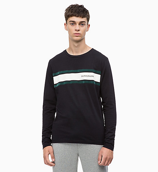 CALVIN KLEIN JEANS Long Sleeve Printed T-shirt - CK BLACK - CALVIN KLEIN JEANS The New Off-Duty - main image