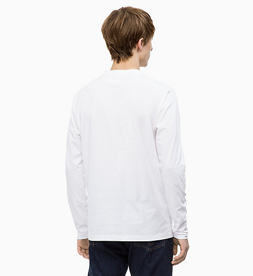 CALVIN KLEIN JEANS Long Sleeve Printed T-shirt - BRIGHT WHITE/NIGHT SKY - CALVIN KLEIN JEANS The New Off-Duty - detail image 1