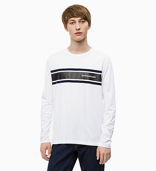 CALVIN KLEIN JEANS Long Sleeve Printed T-shirt - BRIGHT WHITE/NIGHT SKY - CALVIN KLEIN JEANS The New Off-Duty - main image