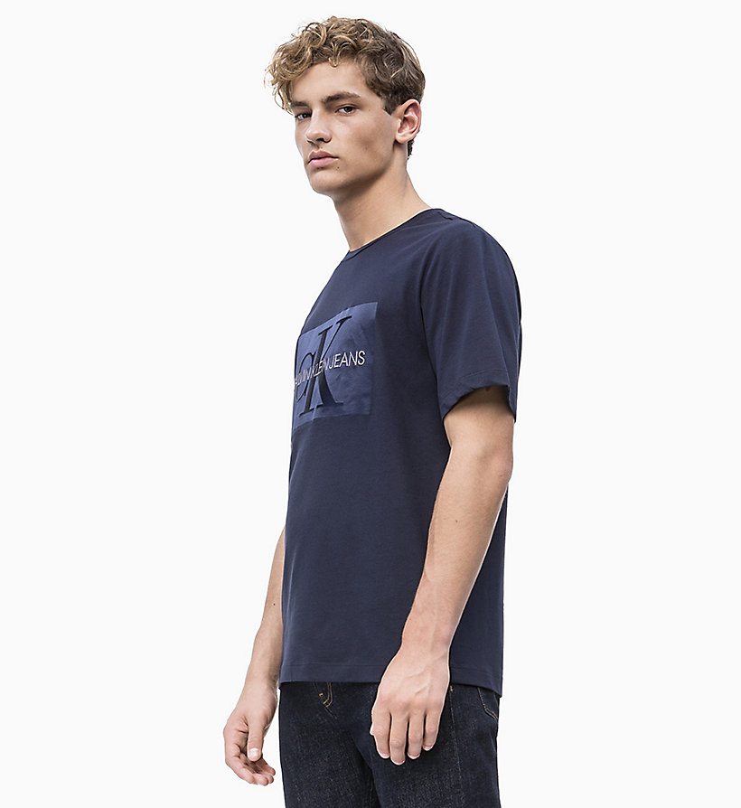 CALVIN KLEIN JEANS Embossed Logo T-shirt - SURF THE WEB - CALVIN KLEIN JEANS MEN - main image