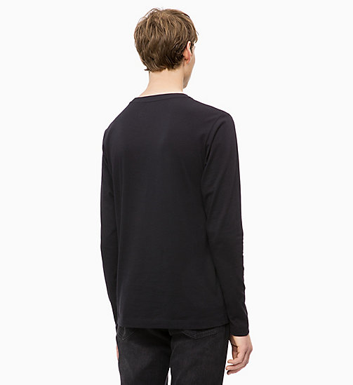 CALVIN KLEIN JEANS Long Sleeve Printed T-shirt - CK BLACK - CALVIN KLEIN JEANS BOLD GRAPHICS - detail image 1