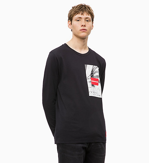 CALVIN KLEIN JEANS Long Sleeve Printed T-shirt - CK BLACK - CALVIN KLEIN JEANS BOLD GRAPHICS - main image