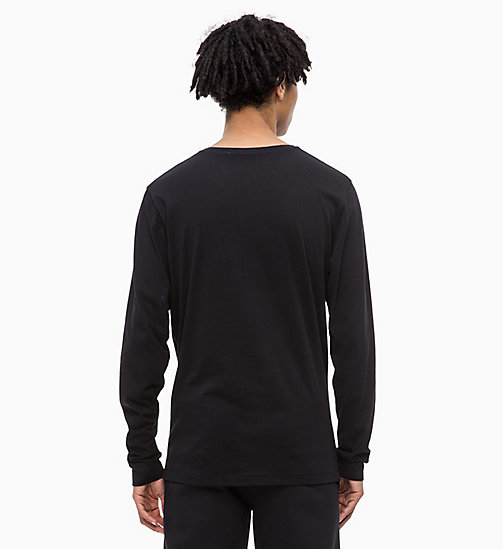 CALVIN KLEIN JEANS Slim Long Sleeve Logo T-shirt - CK BLACK - CALVIN KLEIN JEANS ALL GIFTS - detail image 1
