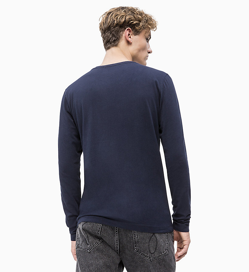 CALVIN KLEIN JEANS Slim Long Sleeve Logo T-shirt - JUNE BUG - CALVIN KLEIN JEANS MEN - detail image 1