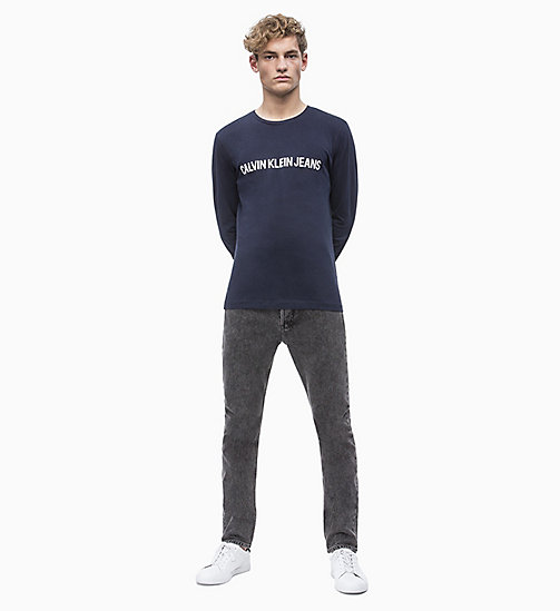 CALVIN KLEIN JEANS Slim Long Sleeve Logo T-shirt - NIGHT SKY - CALVIN KLEIN JEANS ALL GIFTS - detail image 1