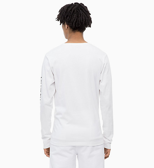 CALVIN KLEIN JEANS Long Sleeve Logo T-shirt - BRIGHT WHITE - CALVIN KLEIN JEANS NEW IN - detail image 1