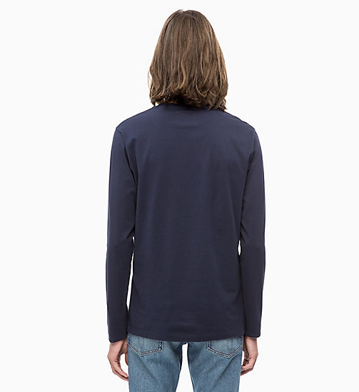 CALVIN KLEIN JEANS Slim Long Sleeve Logo T-shirt - NIGHT SKY/CHAMBRAY - CALVIN KLEIN JEANS CLOTHES - detail image 1