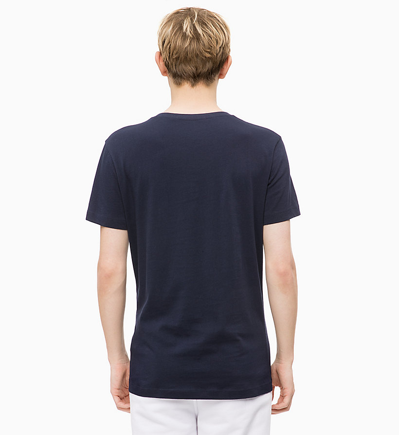 CALVIN KLEIN JEANS Slim V-Neck T-shirt - JUNE BUG - CALVIN KLEIN JEANS MEN - detail image 1