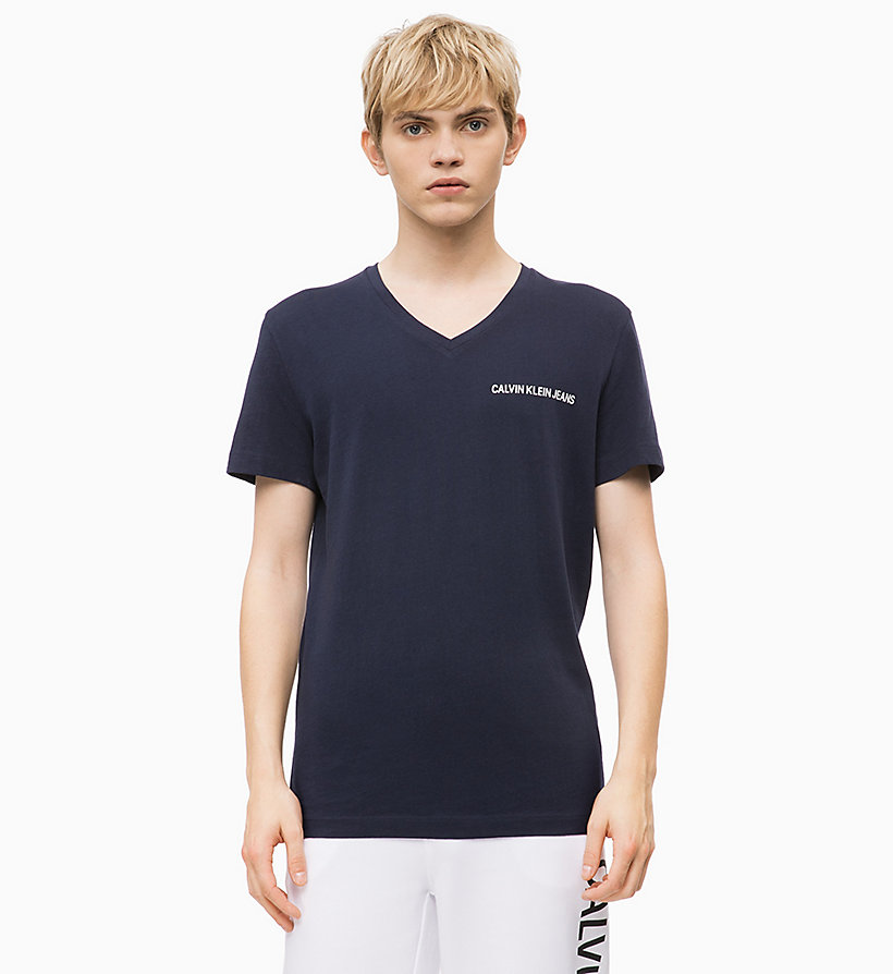 CALVIN KLEIN JEANS Slim V-Neck T-shirt - JUNE BUG - CALVIN KLEIN JEANS MEN - main image