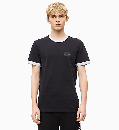 CALVIN KLEIN JEANS T-shirt con bordi profilati Slim - CK BLACK - CALVIN KLEIN JEANS The New Off-Duty - immagine principale