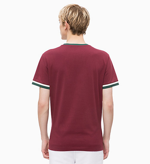 CALVIN KLEIN JEANS Slim Ringer T-shirt - TAWNY PORT - CALVIN KLEIN JEANS The New Off-Duty - detail image 1