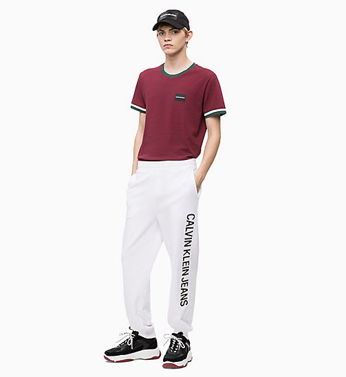 CALVIN KLEIN JEANS Slim Fit Ringer-T-Shirt - TAWNY PORT - CALVIN KLEIN JEANS The New Off-Duty - main image 1