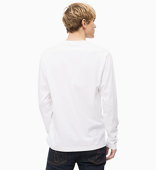 CALVIN KLEIN JEANS Long Sleeve Logo T-shirt - BRIGHT WHITE - CALVIN KLEIN JEANS BOLD GRAPHICS - detail image 1