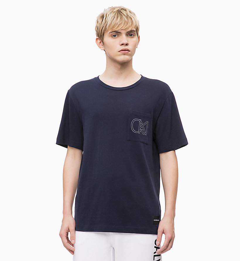 CALVIN KLEIN JEANS Organic Cotton T-shirt - BRIGHT WHITE - CALVIN KLEIN JEANS MEN - main image