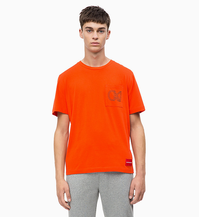 CALVIN KLEIN JEANS Organic Cotton T-shirt - NIGHT SKY - CALVIN KLEIN JEANS MEN - main image