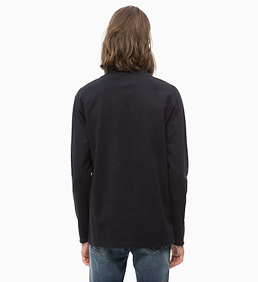 CALVIN KLEIN JEANS Long Sleeve Printed T-shirt - CK BLACK/WHITE - CALVIN KLEIN JEANS CLOTHES - detail image 1